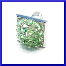 New Green Peridot 925 Silver Cocktail Ring Size 8 FREE SHIPPING #156