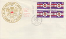 CANADA #736 12¢ ORDER OF CANADA LL INSCRIPTION BLOCK FIRST DAY COVER