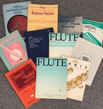 11 BOOKS FLUTE BEGINNERS, A TUNE A DAY, CLASSICAL, SOLOS, WORK BOOKS, MUSIC