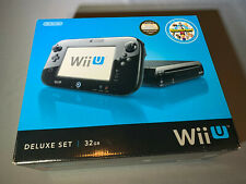 Nintendo Wii U Game Console Black Complete Nearly New