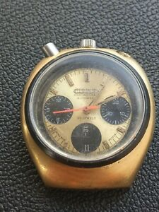 CITIZEN BULLHEAD Chronograph Automatic 8010  Rare Vintage Day Date