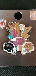 Super Bowl XLVII Nola Baltimore Ravens San Francisco 49ers Helmet Pin