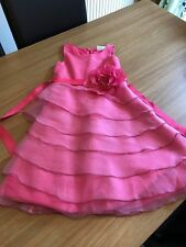 NEXT SIGNATURE PINK GIRL'S SPECIAL OCCASION DRESS AGE 7YRS (13)