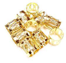 22 pc Gold dreadlock Beads dread hair braid adjustable cuff tube clip 8mm
