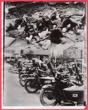 1932 Japanese Marine Motorcycle Machine Gun Unit Shanghai China News Photo
