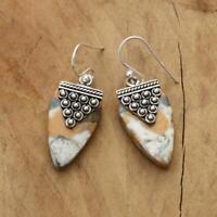 Maligano Jasper 925 Sterling Silver Drop Earrings Jewellery N5