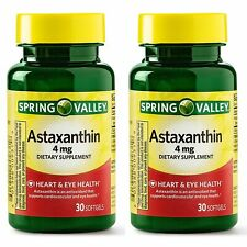 2 Pack Spring Valley Astaxanthin for Heart & Eye Health, 4 mg - 30 Softgels Each