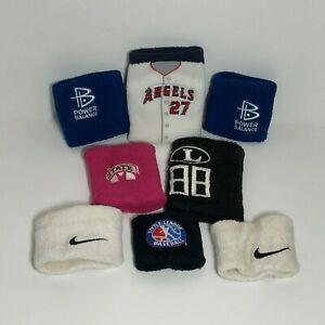 Lot of Youth Sweatbands, Power Balance, Nike, Addidas, Angel's Mike Trout & More