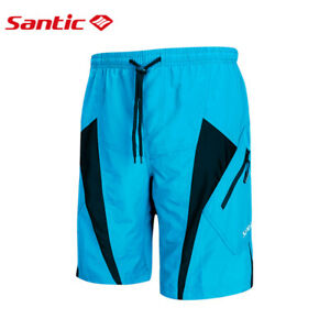 Men's Cycling Shorts 3D Padded Coolmax Loose Fit Leisure MTB Bottoms Large Size