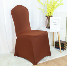 100x Brown Chair Covers Spandex Lycra Stretch Banquet Wedding Chair Decorations
