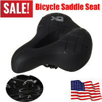 New Comfort Wide Big Thicken Bike Bicycle Cruiser Sporty Soft Saddle Seat Black