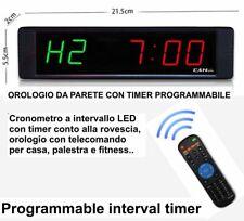 CRONOMETRO LED OROLOGIO HOME FITNESS CROSSFIT TABATA TIMER TRAINING REMOTE