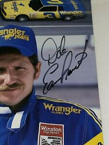 🏁 Dale Earnhardt 1985 CHEVY RCR WRANGLER #3 CHAMP HOF VINTAGE signed photo RARE