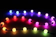 """25 LED RGB G40 3D String Light With Power Supply and Controller 12"""" Spacing"""