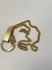 "Fob Belt Chain 18"" Long Vintage Pocket Watch Gold Tone"