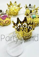 12 Baby Shower Favors Fillable Gold Crown Princess Party Decorations Girl & Boy