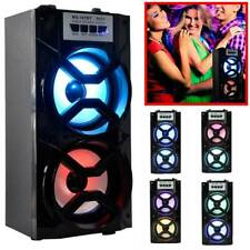 Indoor Portable Wireless Bluetooth Speakers Stereo Super Bass w/ USB/TF/FM Radio