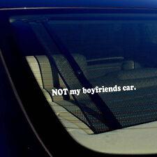 "Not My Boyfriends Car Racing Drifting Girl Vinyl Decal Sticker 7.5"" Inches"