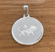 NEW Leo Sterling Silver Zodiac Pendant 925 Horoscope Charm S/S Lion Roar Loyal