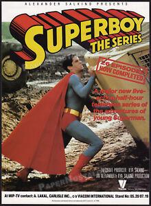 SUPERBOY__Original 1989 Trade Print AD / poster__TV series__GERARD CHRISTOPHER