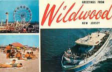 GREETINGS FROM WILDWOOD NEW JERSEY - MULTI-VIEW - VINTAGE POSTCARD VIEW