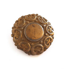 ANTIQUE BRASS METAL BELT BUCKLE - (MILITARY/ARMY/CLAN)