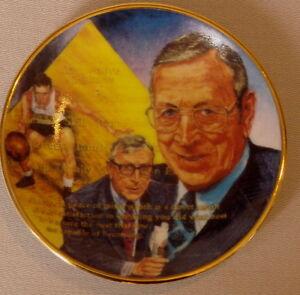 """JOHN WOODEN Gartlan UCLA Bruins USA 3 1/4"""" Plate 1989 """"The Call Him Coach"""""""