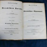 Greek Proper Names: Pape Handwörterbuch der griechischen Sprache 1850