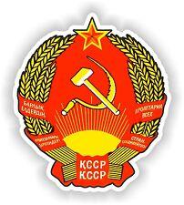 Escudo de Armas de la República Soviética Adhesivo Para Camión Motocicleta Libro Pc Rusia