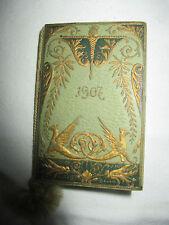 mini carnet confection calendrier de 1907 AU BON MARCHE maison A.Boucicaut Paris