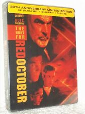 The Hunt For Red October (2-Disc) (4K/Blu-ray, 2021, STEELBOOK) Sean Connery NEW