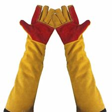 Long Cuff Leather Welding Protective Gloves High Temperature Proof Welder Gloves