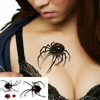 Hipster Waterproof Tattoo Stickers 3D Spider Insect Temporary Tattoo Sticker PL