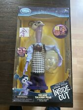 PIXAR DISNEY STORE INSIDE OUT DELUXE TALKING FEAR DOLL LIGHT UP MEMORY 10""