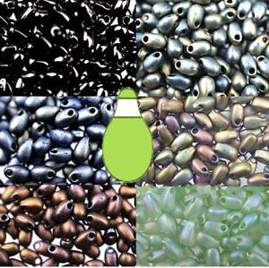 3x5.5mm Miyuki Long Drop Fringe Glass Japanese Seed Beads 25 Grams U-Pick