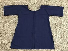 Navy Blue colonial 18th century revolutionary war cotton short gown Bed jacket