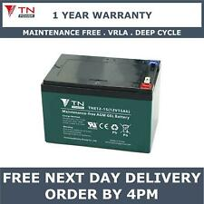 TN Power AGM 12V 15Ah Golf & Mobility Scooter Battery, Replaces REC14-12