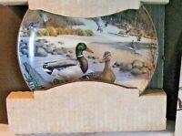 "Knowles Collector Plate ""The Mallard"" by Bart Jerner w/box & COA 10703L Ducks"