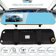 "4.3"" HD 1080P Dash Cam Video Recorder Rear view Car Mirror Camera Vehicle DVR MT"