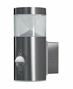 Osram LED Wandleuchte Außenleuchte silber Warmweiß mit 2x Sensor Bewegungsmelder