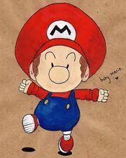 Super Baby Mario Brother Vinilo Calcomanía Adhesivo para Portátil Tablet Macbook Decoración