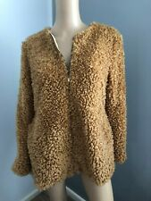 BEIXINA brown Sherpa fleece winter warm coat jacket  XL fits 12 14 NWT
