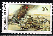 Marshall Isl WW2 Operation Compass Battle of Beda Fomm Tanks in 1941 stamp MNH
