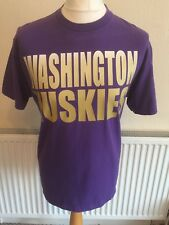 "Washington Huskies NCAA College Football T-Shirt Medium 42"" Champs Vintage Rétro"