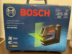 Bosch Cross-Line Laser GLL100-40G Range Lines 100' 30m