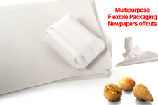 More details for 100 x white packing newspaper offcuts chip shop food wrapping sheets 20