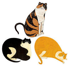WALLIES CATS wall stickers 25 prepasted decals country kitty tabby kitten decor