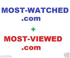 MOST WATCHED VIEWED .com domain name google top TV youtube video investment