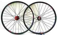 26'' x1.5  alloy Mountain Bike wheelset Rims Q/R 6-Bolt Disc 8/9 speed Red Hub