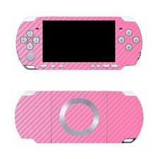 Pink Carbon Fiber Vinyl Decal Skin Sticker Cover for Sony PSP 2000